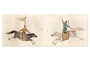 One Kings Lane - Prints with a Point of View - Chinese Warriors, Set of 2