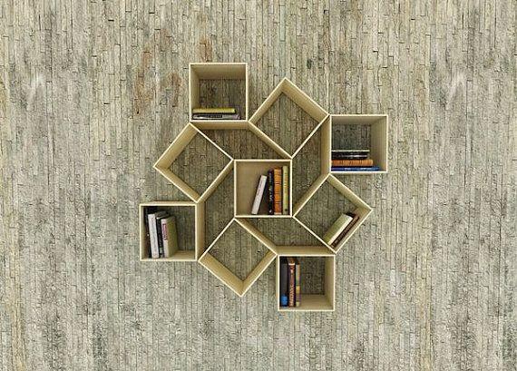 Re-creation wood cubic shelf bookshelf bookcase modern DIY