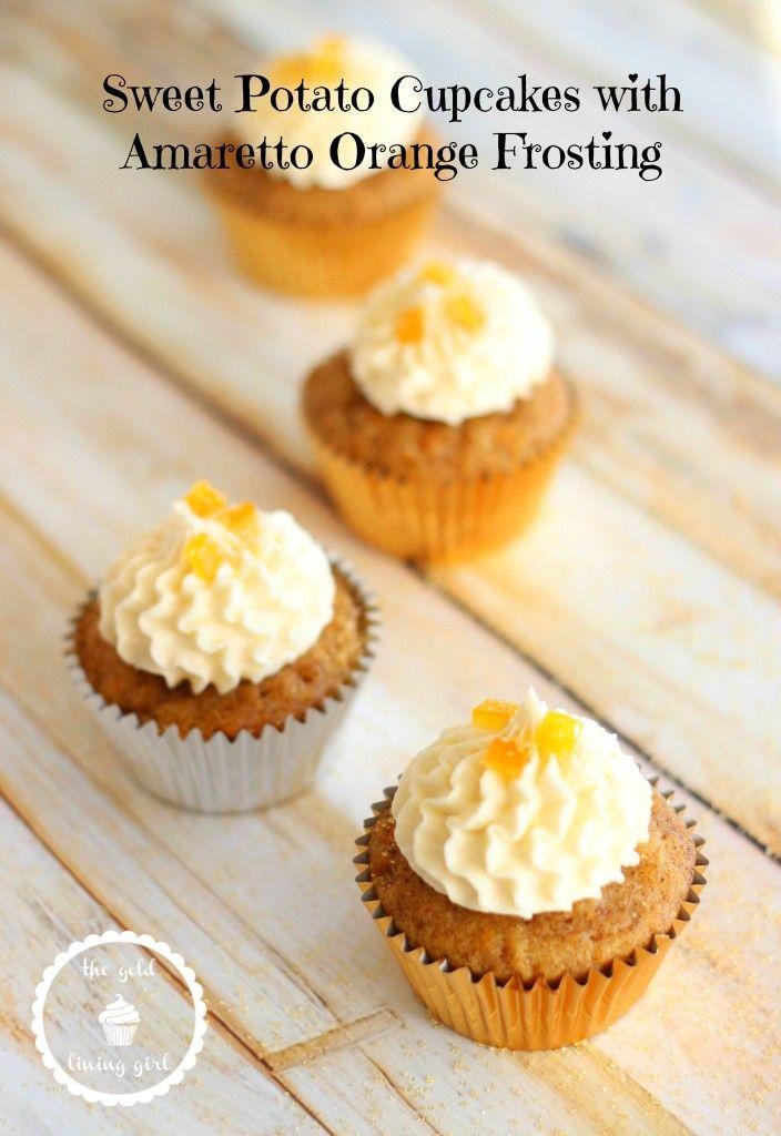Sweet Potato Cupcakes w/ Amaretto Orange Frosting!