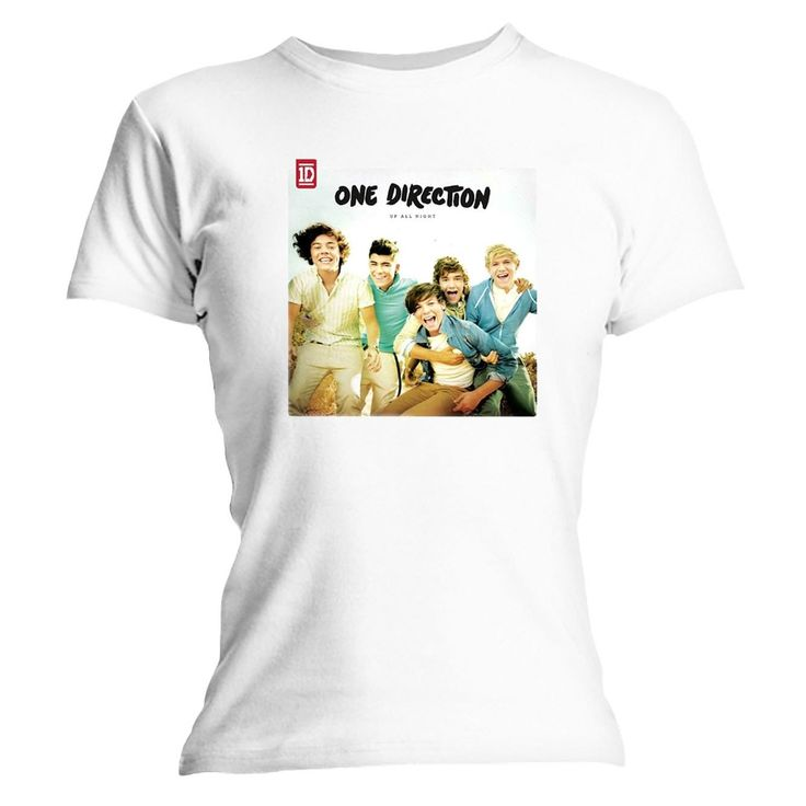 T-Shirt One Direction Blanc Up all Night album Femme - 14,99€ - #Logostore