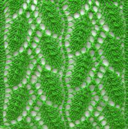 Punto hojas caladas tejido a dos agujas http://www.tejidogratis.com/67-puntos-tejidos/punto-hojas-caladas.html