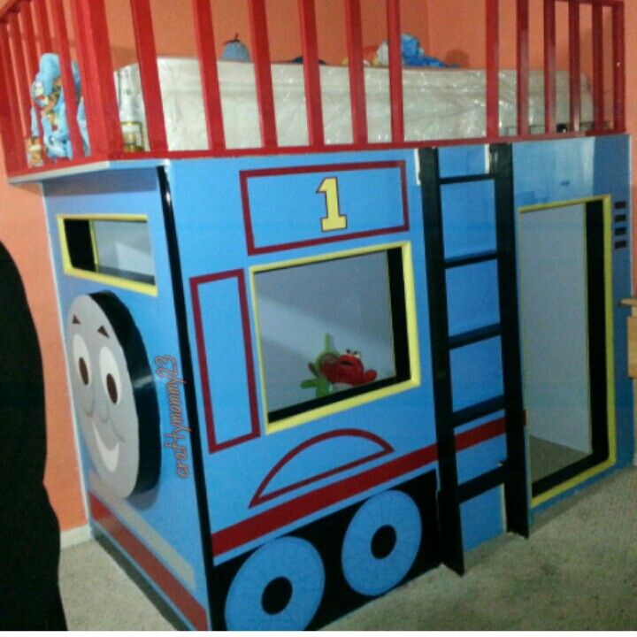 Thomas the train built in bed build it yourself for Build yourself bedroom furniture