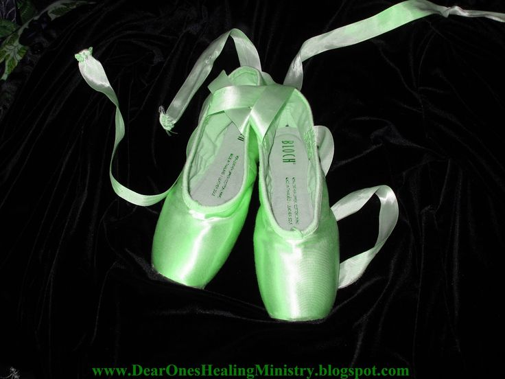 Green Ballet shoes  IF I still danced would be great