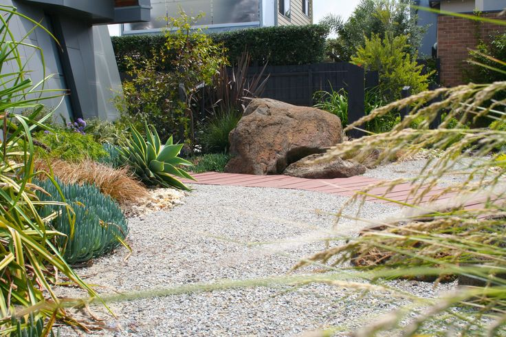 Modern home with a coastal garden. www.rpgardendesign.com.au