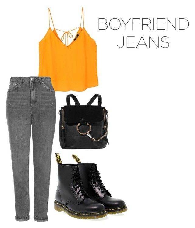 """""""boyfriend"""" by roselie1405x on Polyvore featuring MANGO, Topshop, Dr. Martens and Chloé"""
