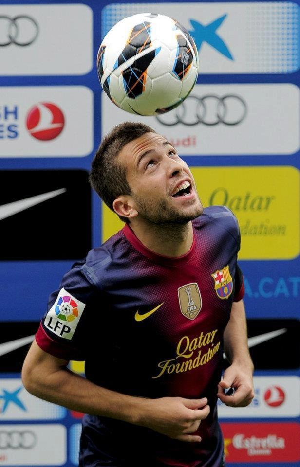 Jordi Alba   Bienvenido al equipo!