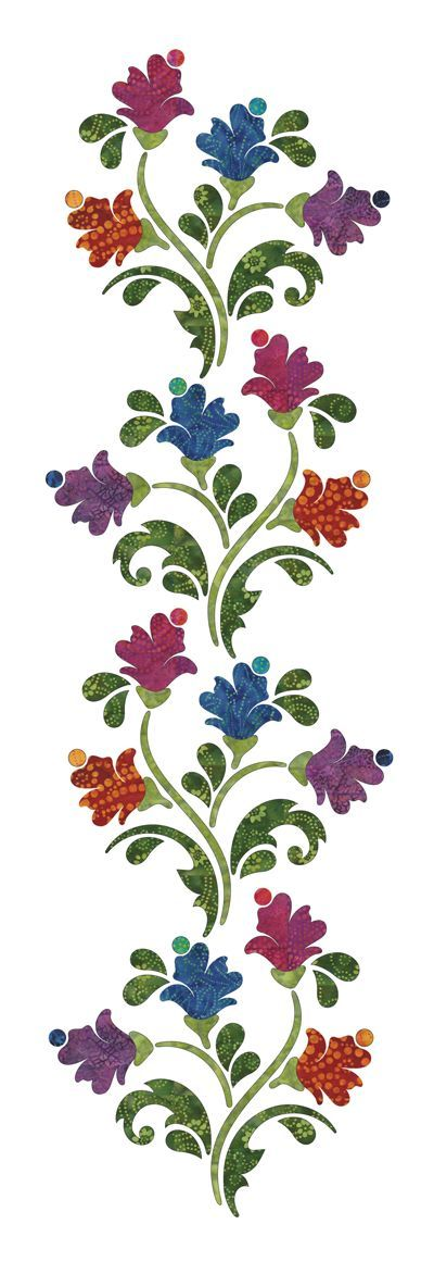 leaf applique pattern - Google Search