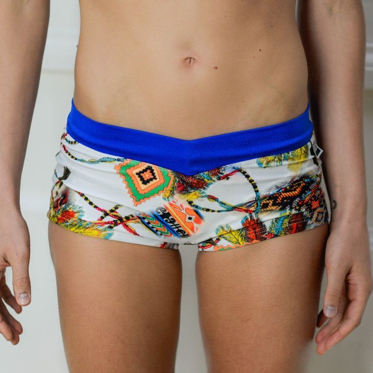 Siluet Yoga Wear | Shorts INDIANS with blue  #siluetyogawear #madewithloveforyou