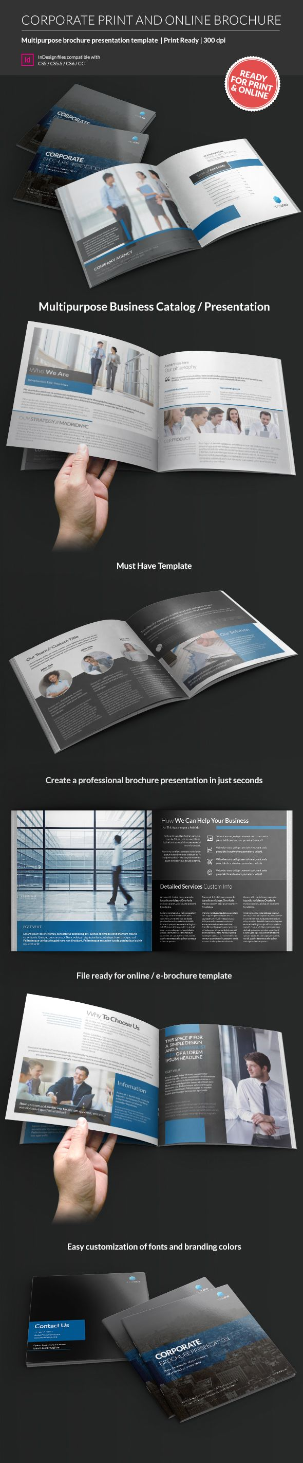 Do you have a brochure for your bussines? #Design #template #brochure