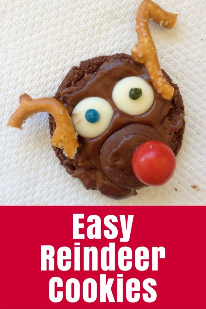 Christmas Reindeer Biscuits - Christmas reindeer biscuits (cookies for my international friends) that require no baking - I call this crafty cooking for kids! - http://thecraftymummy.com/2013/12/christmas-reindeer-biscuits-cookies/