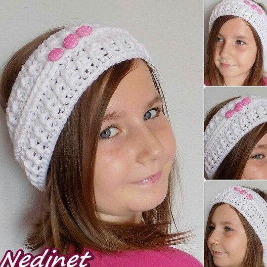 Crochet headband pattern.