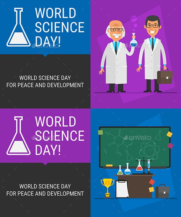 Concept World Science Day People Science Different Objects