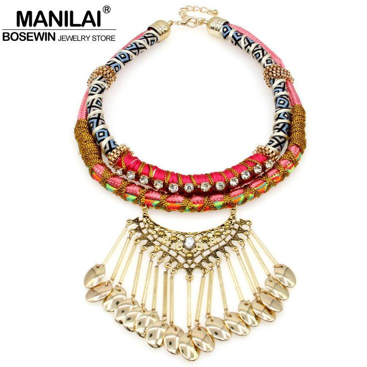 Bohemia Handmade Tassel Necklaces & Pendants Women Fashion Collares Choker Bijoux Big Statement Necklaces Maxi Jewelry Collier