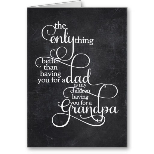 Grandpa Father's Day Card #junkydotcom grandfather