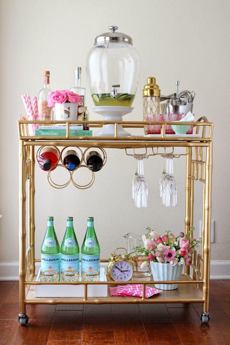 Gold bar cart.