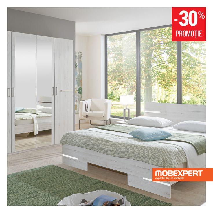 Patul Alberto va asteapta in dormitor la finalul unei zile incarcate, gata sa va ofere confortul dupa care tanjiti pe parcursul intregii zile. Liniile simple si culoarea deschisa se integreaza perfect intr-un decor modern, cu accent pe functionalitate. #pat #dormitor #dulap