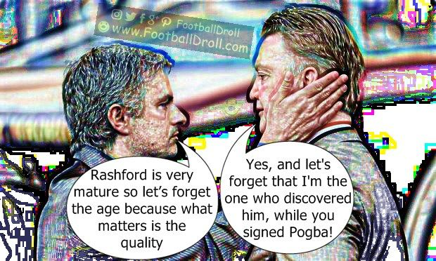 José Mourinho Praises Rashford's Maturity Regardless of Age #Mourinho #vanGaal #ManUnited #Chelsea #EPL #CeltaManU #Pogba #Ibrahimovic #EuropaLeague #ManCity #Arsenal #Liverpool #Neymar #Messi #Ronaldo #FCBarcelona #Jokes #Comic #Laughter #Laugh #Football #FootballDroll #Funny #CR7 #RealMadrid