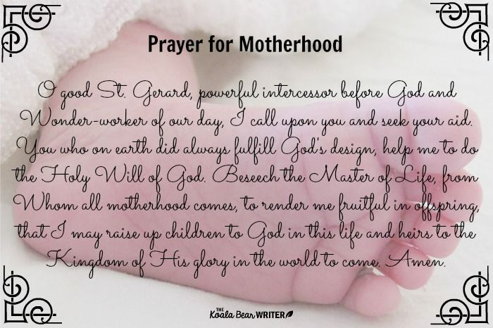 Prayer for Motherhood to St. Gerard Majella, patron saint of expectant mothers and childbirth. (Plus more FREE prayer cards to use during pregnancy and labour!)