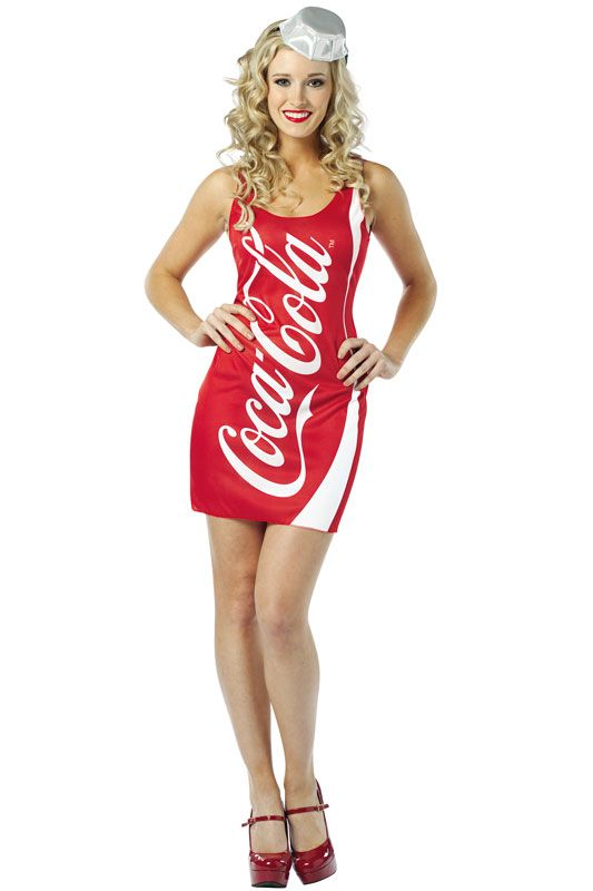 Coca Cola Coke Tank Dress Adult Costume #halloween #costumes