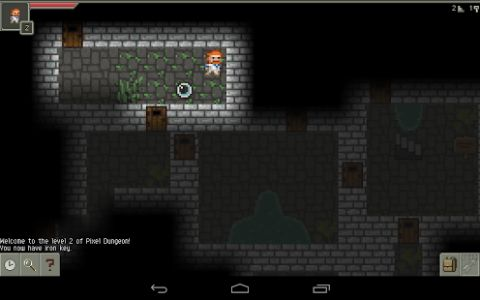 Pixel Dungeon is a traditional roguelike(*) game with pixel-art graphics and simple interface.