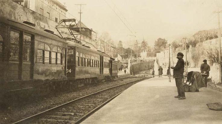 L'estació de Sarrià,  1932. AFB. Autor desconegut.