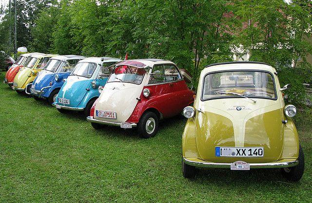 Isetta Microcars, apples, oranges, blueberries, cherries, bananas...micro car in every color!