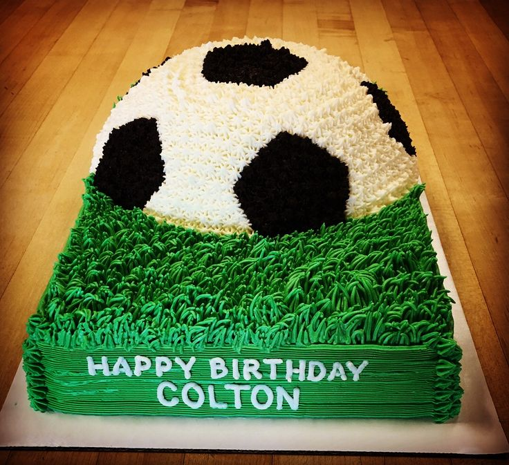 Soccer ball cake.