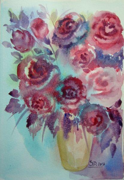 Roses- watercolor, 21/15 cm, 2013, Derecichei Simona Mihaela