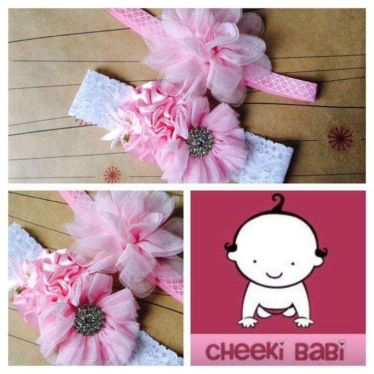 Handmade by Cheeki Babi Headbands x 2