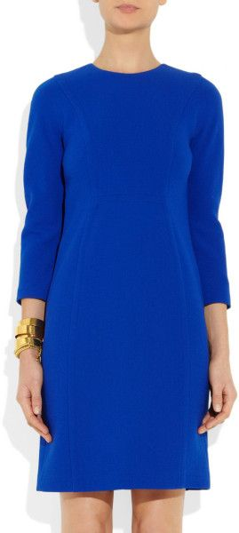 Michael Kors Stretch WoolCrepe Dress in Blue (sapphire) - Lyst