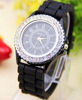 Horloge zwart strass
