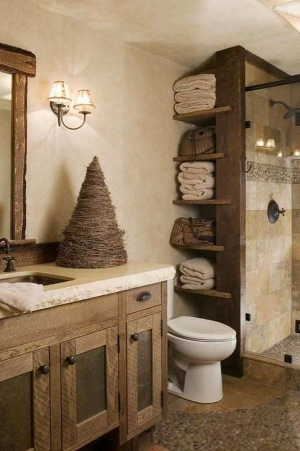 27 Wonderful Lamp Farmhouse Bathroom Lighting Ideas In 2020 Rustic Bathrooms Rustic Bathroom Rustic Bathroom Designs