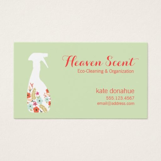 146 best house cleaning business cards images on pinterest floral spray bottle house cleaning logo business business card colourmoves