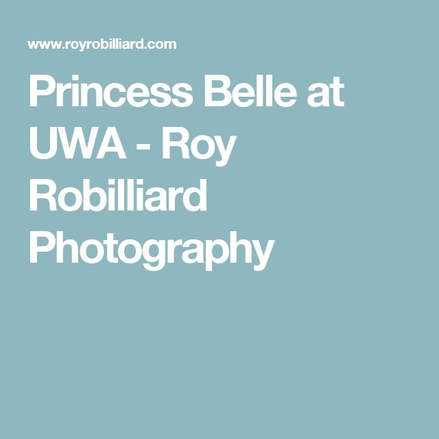 Princess Belle at UWA - Roy Robilliard Photography