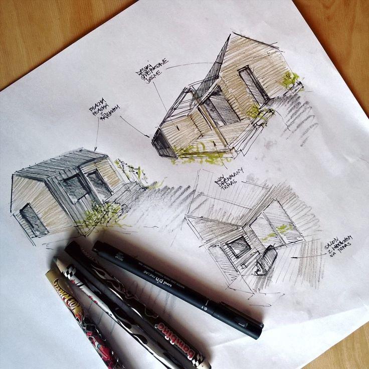 Letniak :) #szkic #sketch #pasja #rysunek #drawing #sketcharch #architektura