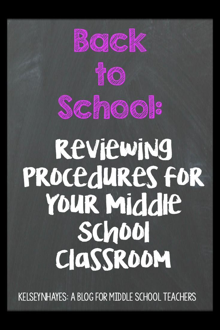 Reviewing Procedures for Your Middle School Classroom #classroomprocedures…                                                                                                                                                     More
