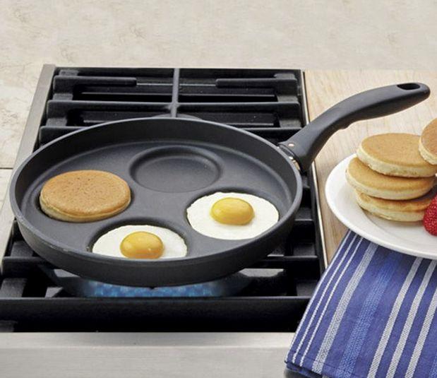 Bak eieren, burgers en nog meer producten van elkaar gescheiden