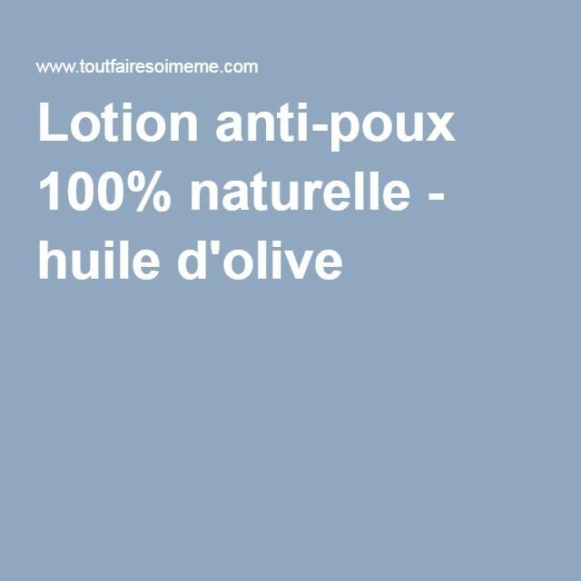 Les 25 meilleures id es concernant lotion anti poux sur - Anti puceron naturel huile d olive ...