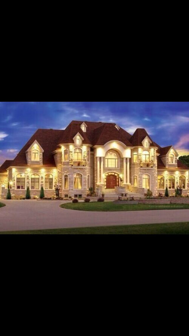 When i win the lottery a couple times and marry rich for Huge modern mansion