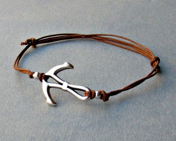 Anchor bracelet for men men's bracelet Silver anchor by GUSFREE
