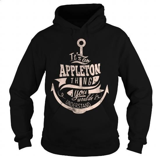 APPLETON - #hoodie #the first tee. GET YOURS => https://www.sunfrog.com/LifeStyle/APPLETON-98542894-Black-Hoodie.html?60505