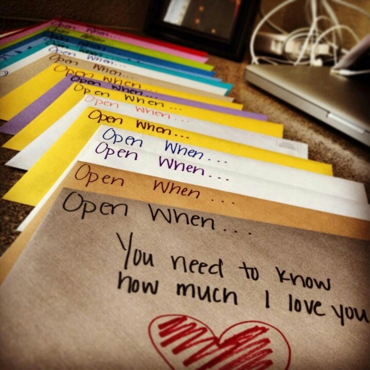 Love. These are letters to her husband for when.....