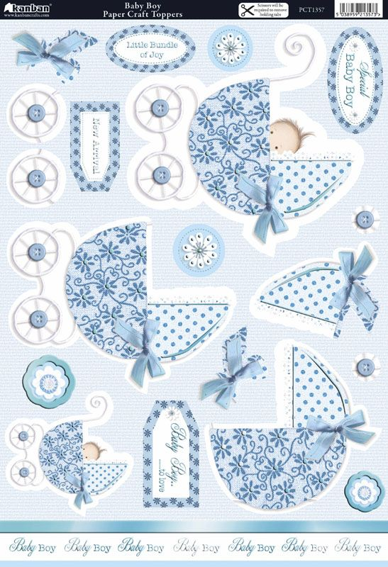 A4 Kanban Cherished Occasions die cut toppers - Baby Boy