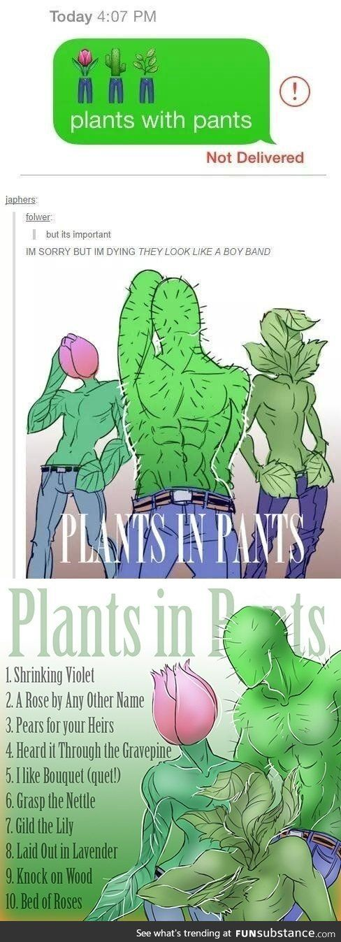 Plants in pants Emoji
