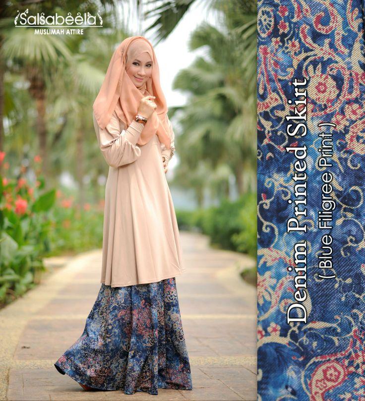 Muslimah Floral N Beige Dress