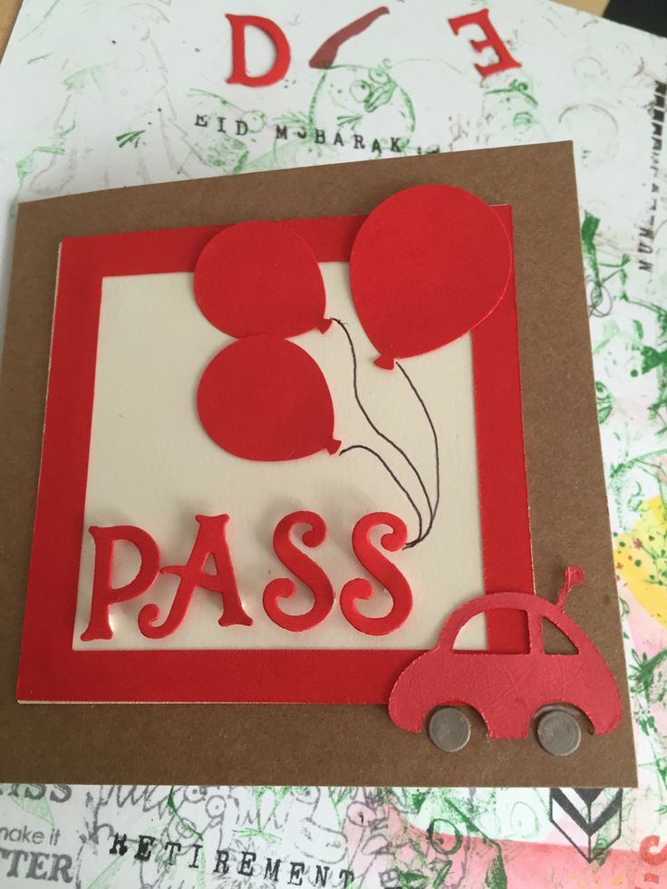 Driving test pass card