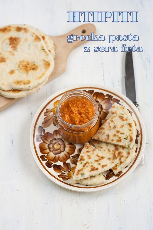 Htipiti- grecka pasta z pieczonej papryki i fety/ Htipiti- Greek Roasted Pepper and Feta Cheese Spread