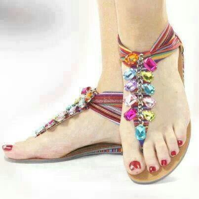 Pretty Pink Toes - Decoración de zapatos Multicolor Tweed OE2qCtcy