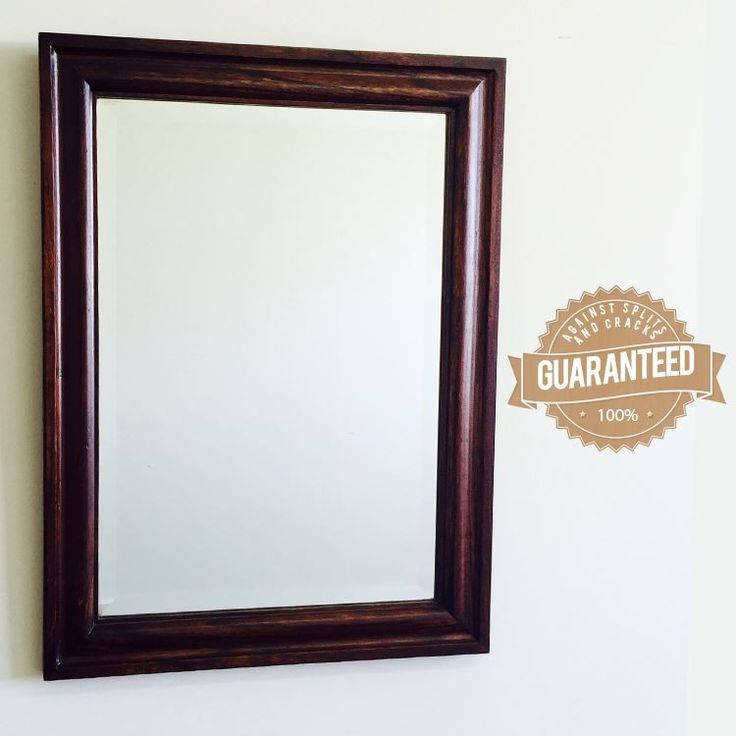 Antique Style Solid  Wood Bevelled Glass Mirror 25307