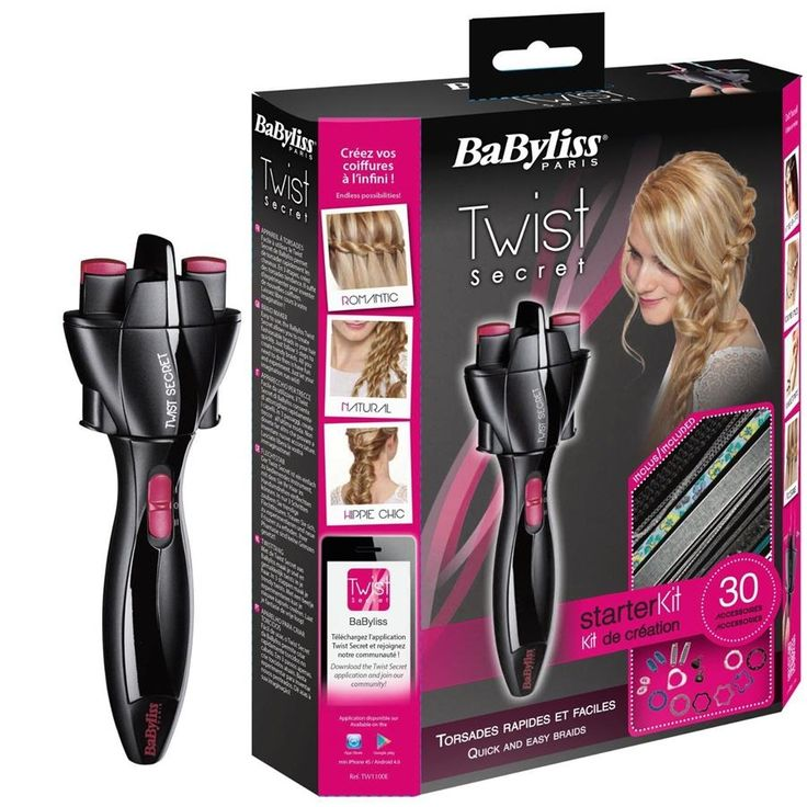 Babyliss TW1100E Twist Secret Kit Hairstyling Tool Babyliss TW1100E Twist Secret Kit Hairstyling Tool  Babyliss Twist Secret Hairstyling Tool + 30 accessories for hair, head and arm jewelry BaByliss' Twist Secret is a completely new hairstyling tool that is very useful for twisting hair quickly and easily.  In a few easy steps, create your own stylish curls, which can be held in place later on with jewellery or bands. With the Twist Secret, you're free to try out new ideas in styling: